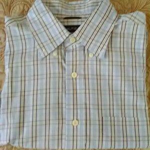 Nautica men's large plaid button down shirt.